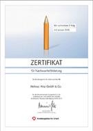 Auszeichnung für exzellente Ausbildung