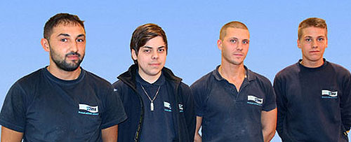 4 neue Auszubildende